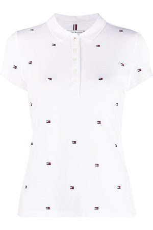Tommy Hilfiger Logo-print short-sleeved polo shirt