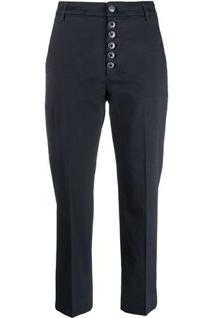 Dondup Women Chinos - Painted button cropped chinos
