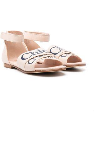 Chloé Logo-strap flat sandals