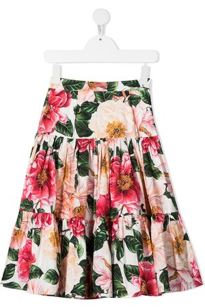 Dolce & Gabbana Floral print tiered skirt