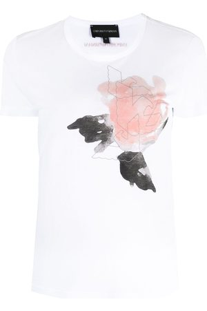 Emporio Armani Painterly-print short-sleeve T-shirt