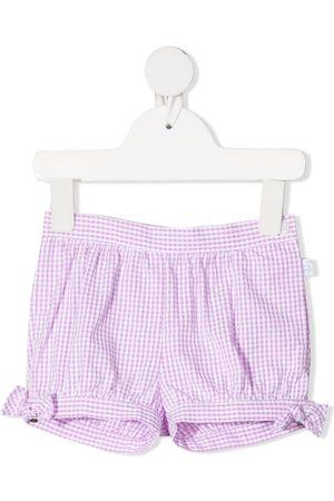 Il gufo Gingham check cotton shorts