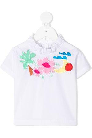 RASPBERRY PLUM Ruffled-collar T-shirt