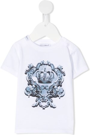 Dolce & Gabbana Baby Short Sleeve - Crown logo print T-shirt