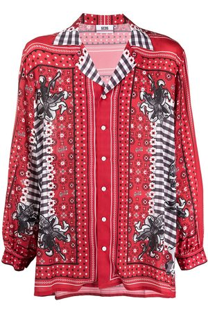 GCDS Bandana print long-sleeved shirt