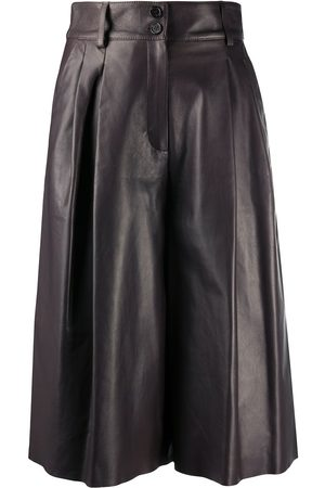 Dolce & Gabbana Pleated leather culottes