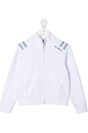 Karl Lagerfeld Striped-shoulder bomber jacket