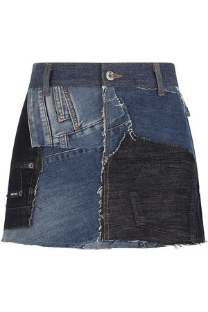 Dolce & Gabbana Women Denim Skirts - Patchwork denim skirt