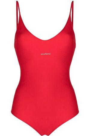 Soulland Adel V-neck swimsuit