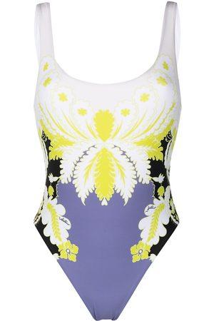 VALENTINO World Arazzo print swimsuit