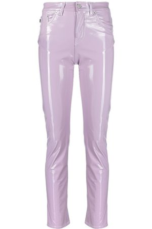 Fiorucci Women Skinny Pants - Yves mid-rise glossy trousers