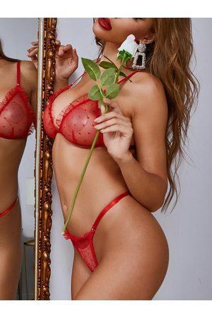 YOINS Polka dot See through design Sleeveless Sexy Lingerie