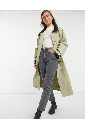 ASOS Oversized trench coat with cord collar in