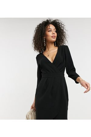 ASOS ASOS DESIGN Tall mini dress with wrap skirt in