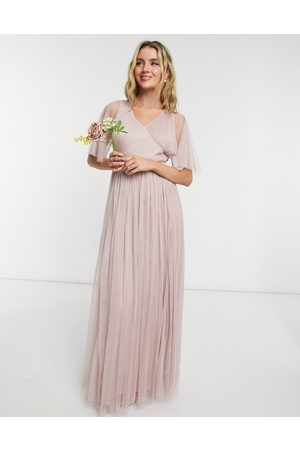 ANAYA With Love Bridesmaid tulle flutter sleeve maxi dress in