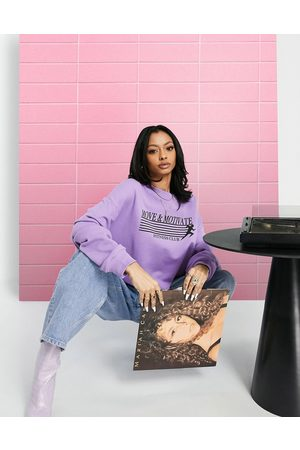 ASOS DESIGN Sweatshirt with move and motivate graphic in