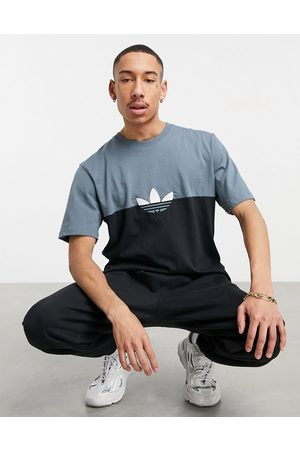 adidas Colourblock trefoil t-shirt in