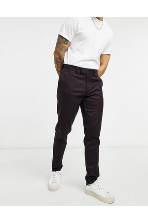 ASOS Skinny smart trouser in burgundy twill