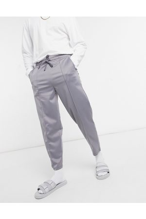 ASOS Tapered joggers in poly-tricot