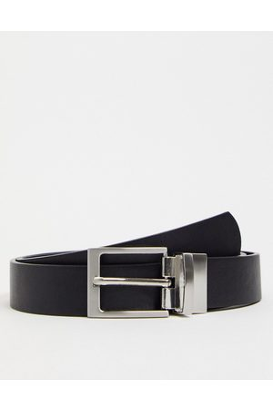 ASOS Men Belts - Slim reversible belt in and suede faux leather