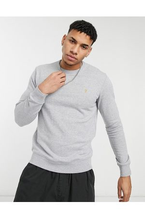 Farah Men Tim crew neck organic cotton sweat in marl