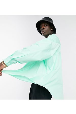 ASOS Extreme oversized dad shirt in lime