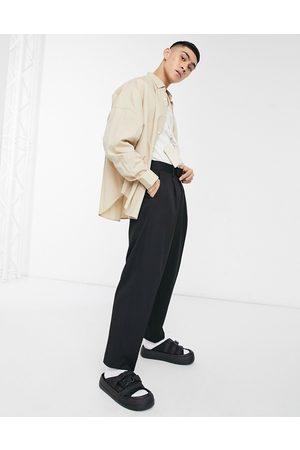 ASOS Men Pants - Oversized tapered smart trouser in