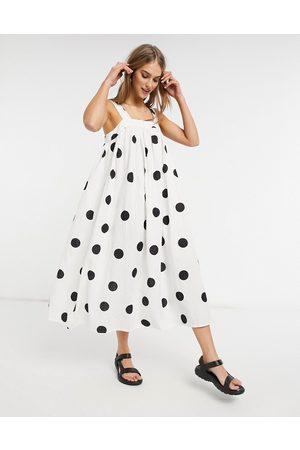 ASOS Trapeze maxi dress in oversized mono spot