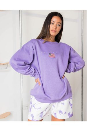 Daisy Street Relaxed sweatshirt with los angeles embroidery in pastel