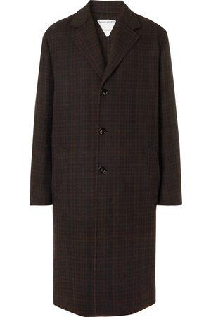 Bottega Veneta Oversized Checked Double-Faced Wool-Blend Coat