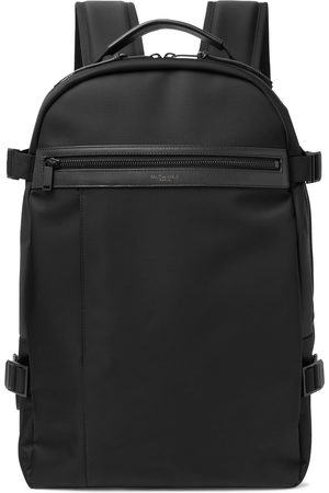 SAINT LAURENT Men Rucksacks - City Trekking Leather-Trimmed Shell Backpack