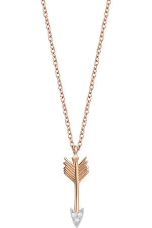 Milka Women Necklaces - 18kt rose gold and diamond Arrow necklace
