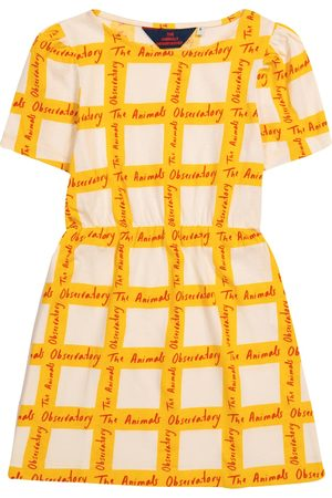 The Animals Observatory Flamingo printed cotton dress
