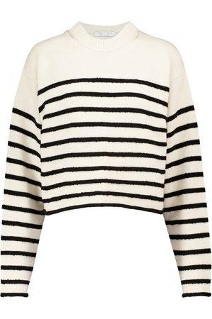 Proenza Schouler Label striped cotton-blend sweater