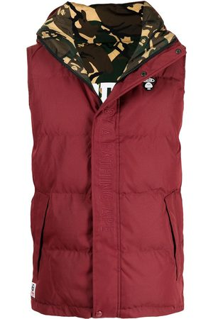 AAPE BY A BATHING APE Embroidered logo padded gilet