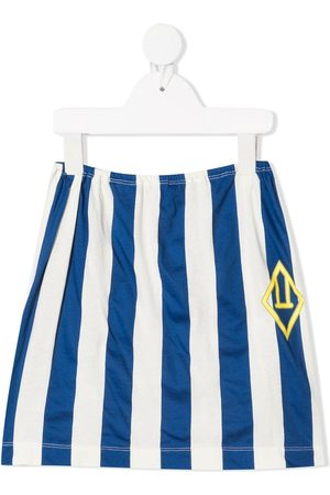 The Animals Observatory Stripe-print cotton skirt
