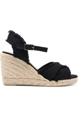 Castaner Bromelia raw-cut wedge sandals