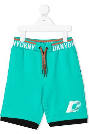 DKNY Boys Bermudas - Logo-tape cotton bermuda shorts