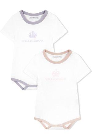Dolce & Gabbana Two-pack logo-print babygrows