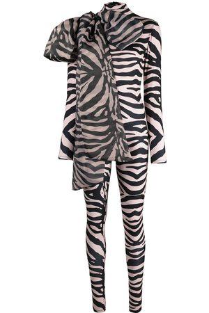 Atu Body Couture Zebra print stretch bodysuit