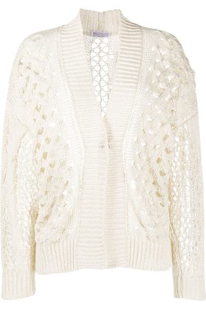 Brunello Cucinelli Women Cardigans - Crochet knit cardigan
