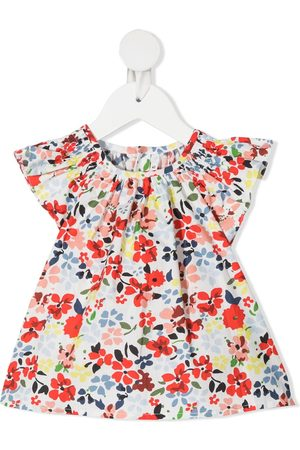 BONPOINT Ruffled floral print top