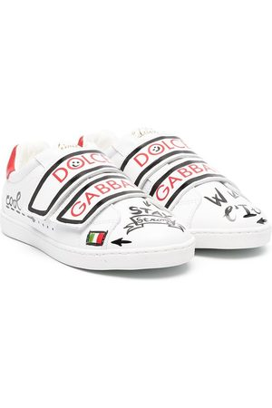 Dolce & Gabbana Paint-effect low-top sneakers