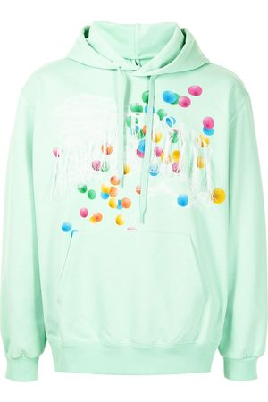 DOUBLET Graphic-print fringed hoodie