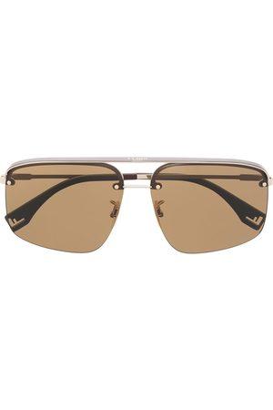 Fendi Sunglasses - Rectangular frame metal sunglasses