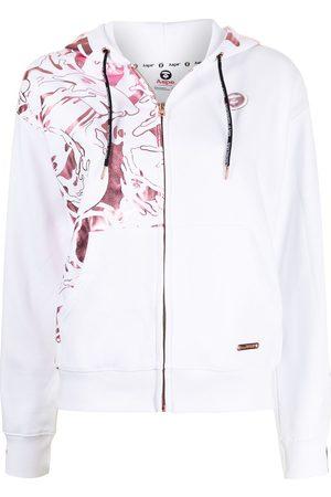AAPE BY A BATHING APE Graphic-print zip-up hoodie