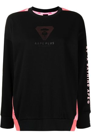 AAPE BY A BATHING APE Logo-embossed two-tone sweatshirt