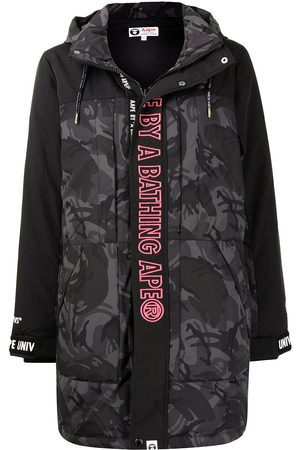AAPE BY A BATHING APE Logo-print hooded padded coat
