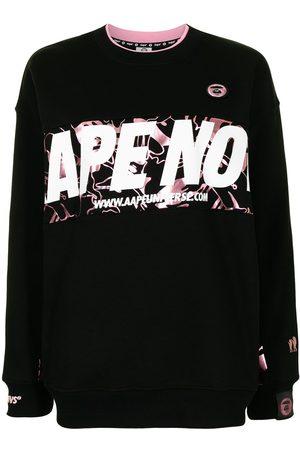 AAPE BY A BATHING APE Logo-print crew-neck sweatshirt