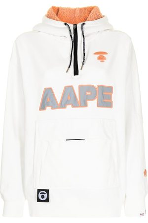 AAPE BY A BATHING APE Logo-embroidered zip-up hoodie
